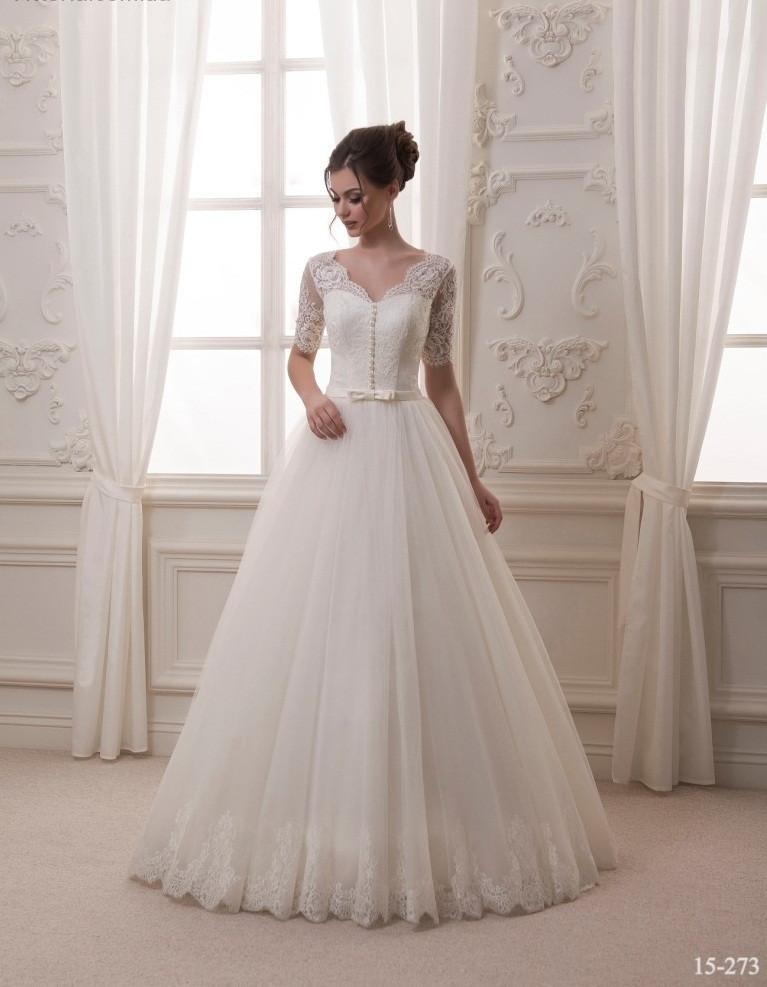 5adc24df456 Нежное свадебное платье с кружевными рукавами - Интернет-магазин ОДЁЖКА  прямой поставщик в Одессе