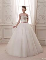 Пышное свадебное платье со стразами, камнями и бусинками, фото 1