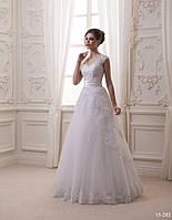 Роскошное свадебное платье с дорогим кружевом