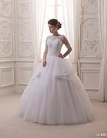 Прелестное свадебное платье с кружевным болеро, фото 1