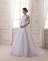 Свадебное платье на бретельках