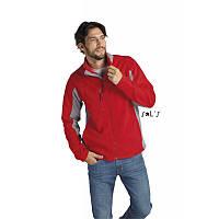 Куртка-флис мужская двухцветная с застежкой на молнии SOL'S NORDIC, красного, синего, чёрного цвета, фото 1