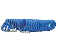 Шланг спиральный полиуретановый Intertool PT-1710, 6.5*10 мм, 5 м с быстроразъемными соединениями (PT-1710)