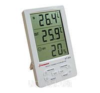 Портативная метеостанция гигрометр - термометр - часы будильник с выносным датчиком KT-905