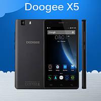 """Смартфон DOOGEE X5 (""""5, 3G сеть, 4-ядр, 1/8 памяти)"""
