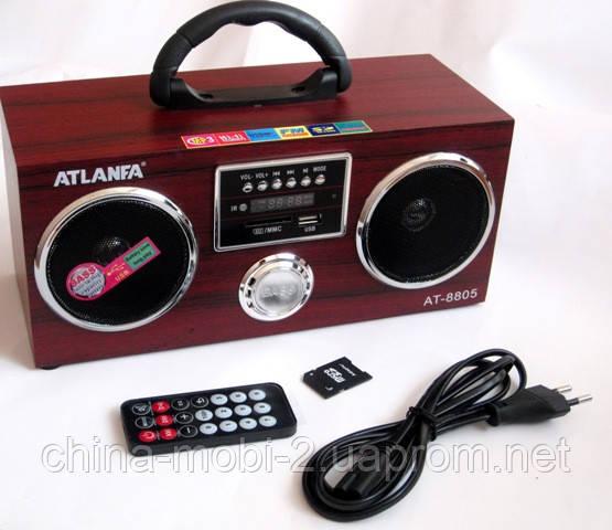 Акустическая колонка  Atlanfa AT-8805, MP3 SD USB FM , red