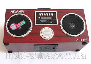 Акустическая колонка  Atlanfa AT-8805, MP3/SD/USB/FM/, red, фото 2