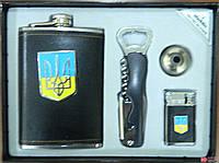 """Подарочный набор фляга + нож + зажигалка """"Україна"""" арт. DJH0597"""