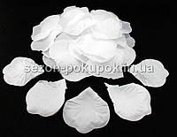 Лепестки роз искусственные (упаковка 100 шт) Белый цвет