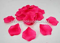 Лепестки роз искусственные (упаковка 100 шт) Цвет - малиновый, однотонный