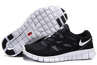 Кроссовки мужские беговые Nike Free Run Plus 2  (найк фри ран) черные