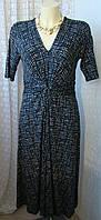 Платье женское элегантное вискоза стрейч миди бренд Alex&Co р.44-46 5695