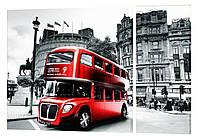 Модульная картина 30 лондонский автобус