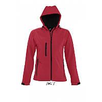 Женская куртка-ветровка с капюшоном софтшелл SOL'S REPLAY WOMEN, фото 1