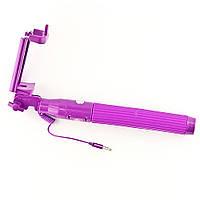 Монопод для селфи NEON фиолетовый