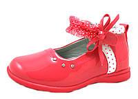 Туфли, балетки лаковые для девочки р.26-28 ТМ Apawwa (Польша)