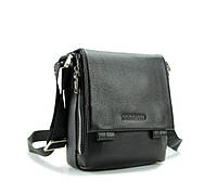 Солидная кожаная мужская сумка от Итальянского бренда черная