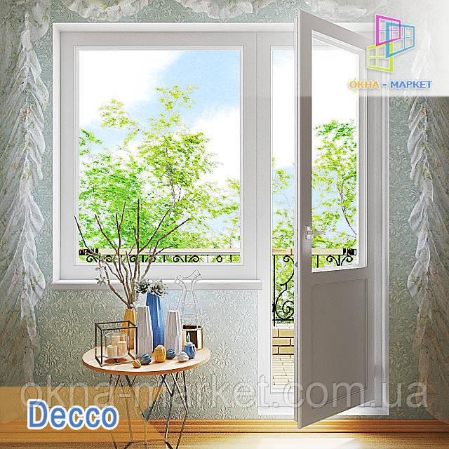 """Выход на балкон 1800x2100 Decco 71, Decco 82, Decco 83 """"Окна Маркет"""""""