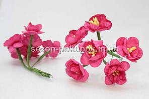 """Цветок """"Весенник""""   (цена за букет из 6 шт) Малиновый цвет"""