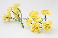 """Цветок """"Весенник""""   (цена за букет из 6 шт) Желтый цвет"""