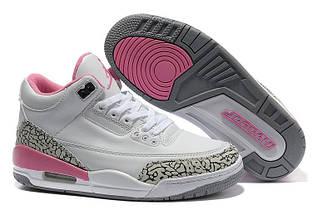 Кроссовки женские Nike Air Jordan 3 / AJW-012 (Реплика)