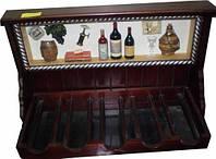 Кухонная полочка для вина деревянная 60*40см YQ21230