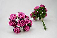 Роза кучерявая 1,8 см (Цена за букет из 10 шт) Малиновый цвет