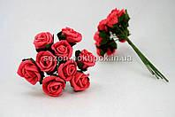 Роза кучерявая 1,8 см (Цена за букет из 10 шт) Алый цвет