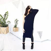 Платье вязаное ручной работы с одним рукавом, фото 1