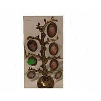 Фоторамка - Семейное дерево (овал бронза)