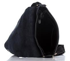 Брендовая повседневная мужская кожаная сумка черная, фото 3