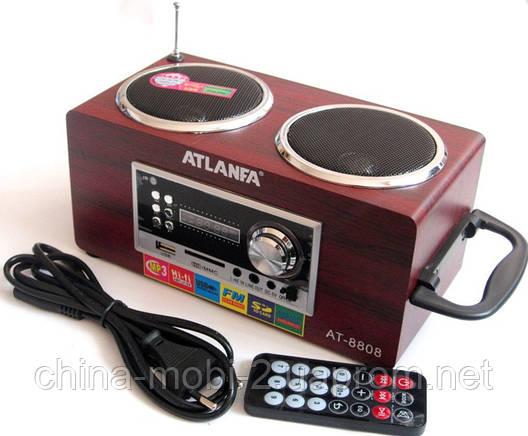 Акустическая колонка  Atlanfa AT-8808, MP3 SD USB FM , red, фото 2