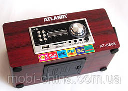 Акустическая колонка  Atlanfa AT-8808, MP3 SD USB FM , red, фото 3