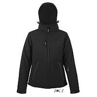 Стеганая куртка-жакет софтшелл женский чёрного цвета SOL'S ROCK WOMEN, фото 1