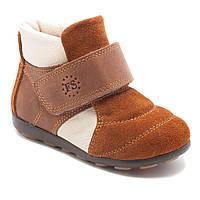 Кожаные, коричневые ботинки FS Сollection, демисезонные, размер 20-30