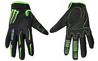 Мотоперчатки текстильные MONSTER Energy MS-4637-BG