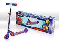 Самокат SD0109 Marvel Spider Man.світло,метал.,2 колеса PVC