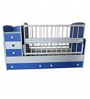 """Дитяче ліжко-трансформер """"Колисковий світ"""" (блакитна)"""