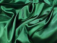 Атлас зелёный, ткань (бутылочный зеленый)