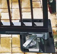 Комплект электромеханических приводов подземной установки. Ширина створки до 3,50 м, вес створки до 500 кг