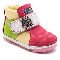 Кожаные ботинки FS Collection для девочки, на липучке, размер 21-30