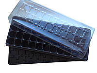 Парничок для рассады на 44 ячеек (касета+крышка+поддон)