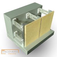 Подконструкция алюминиевая клеевая Discovery. Вентилируемые фасады