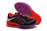 Женские кроссовки Nike Air Max 2015 black-violet-red, фото 1