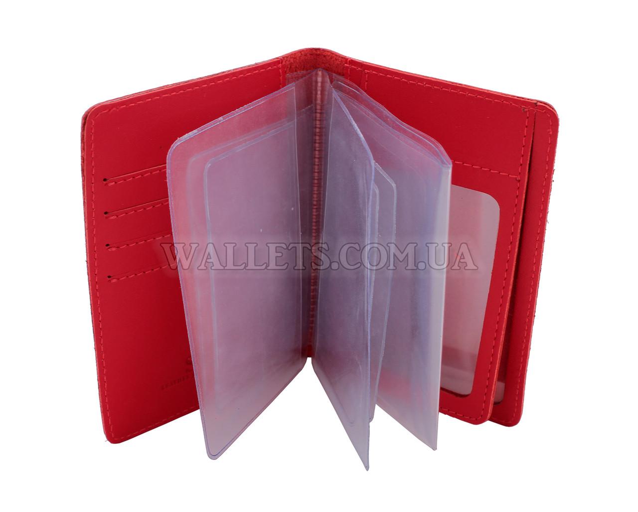 Документница для водительских прав ST, кожа, красная