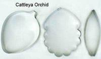 Вырубка для мастики металл Орхидея 3 шт