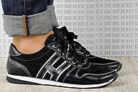 Женские кроссовки кожаные с замшей