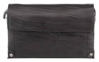 Стильная мужская барсетка из натуральной кожи c оригинальным тиснением, фото 2