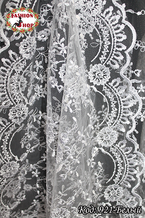 Свадебный палантин белый Алира, фото 2