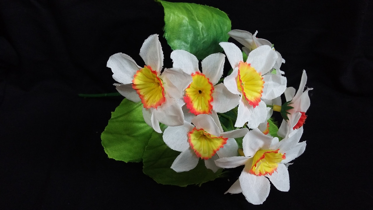 Нарцисс тканевый, (разные цвета,  в-20 см) 9гр.